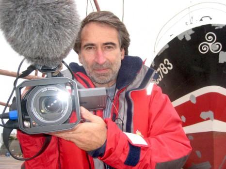 Tournée d'Emmanuel Audrain sur le littoral, avec son film «Attention ! Hypothermie»