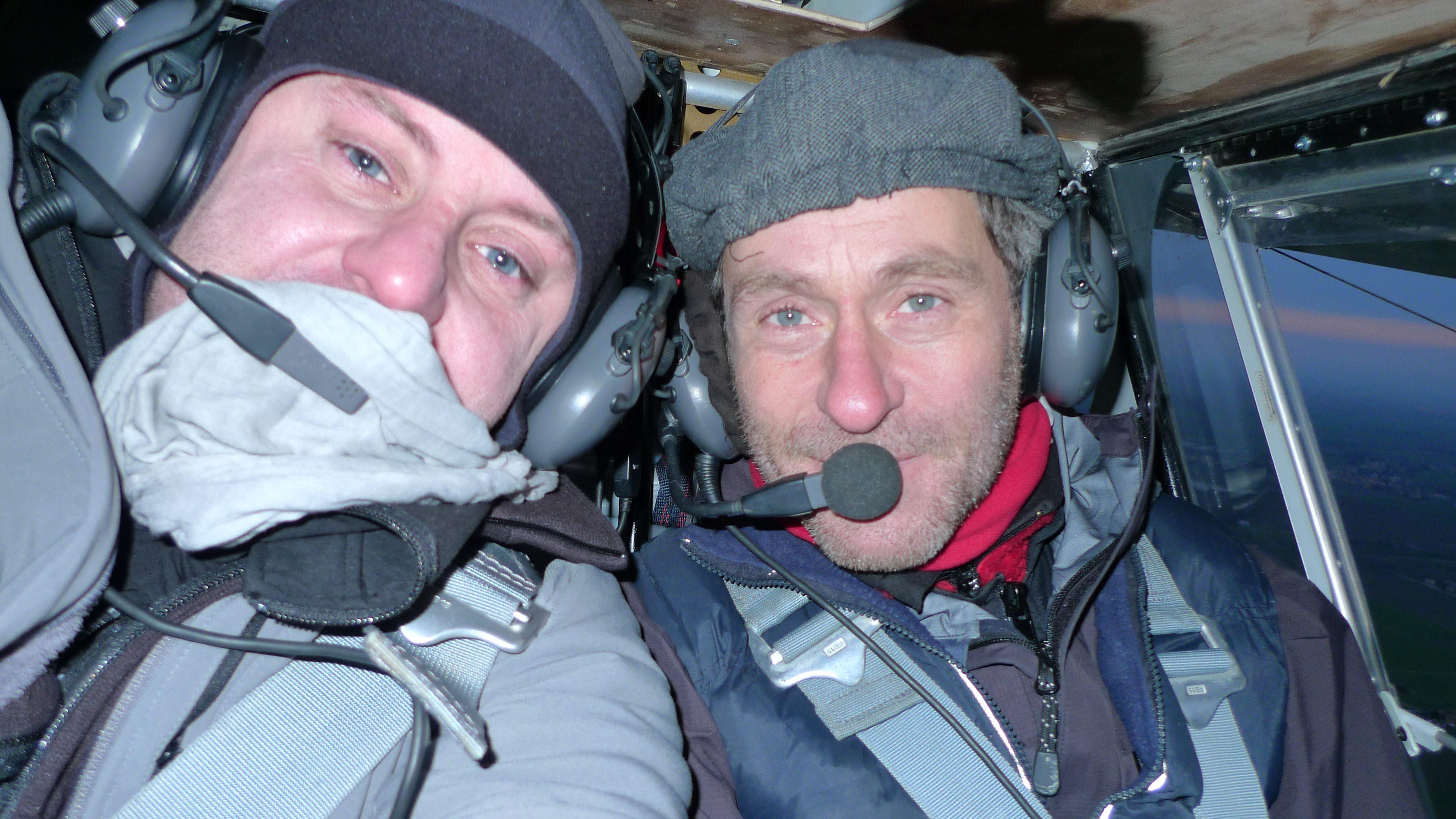Xavier et Hubert dans ULM