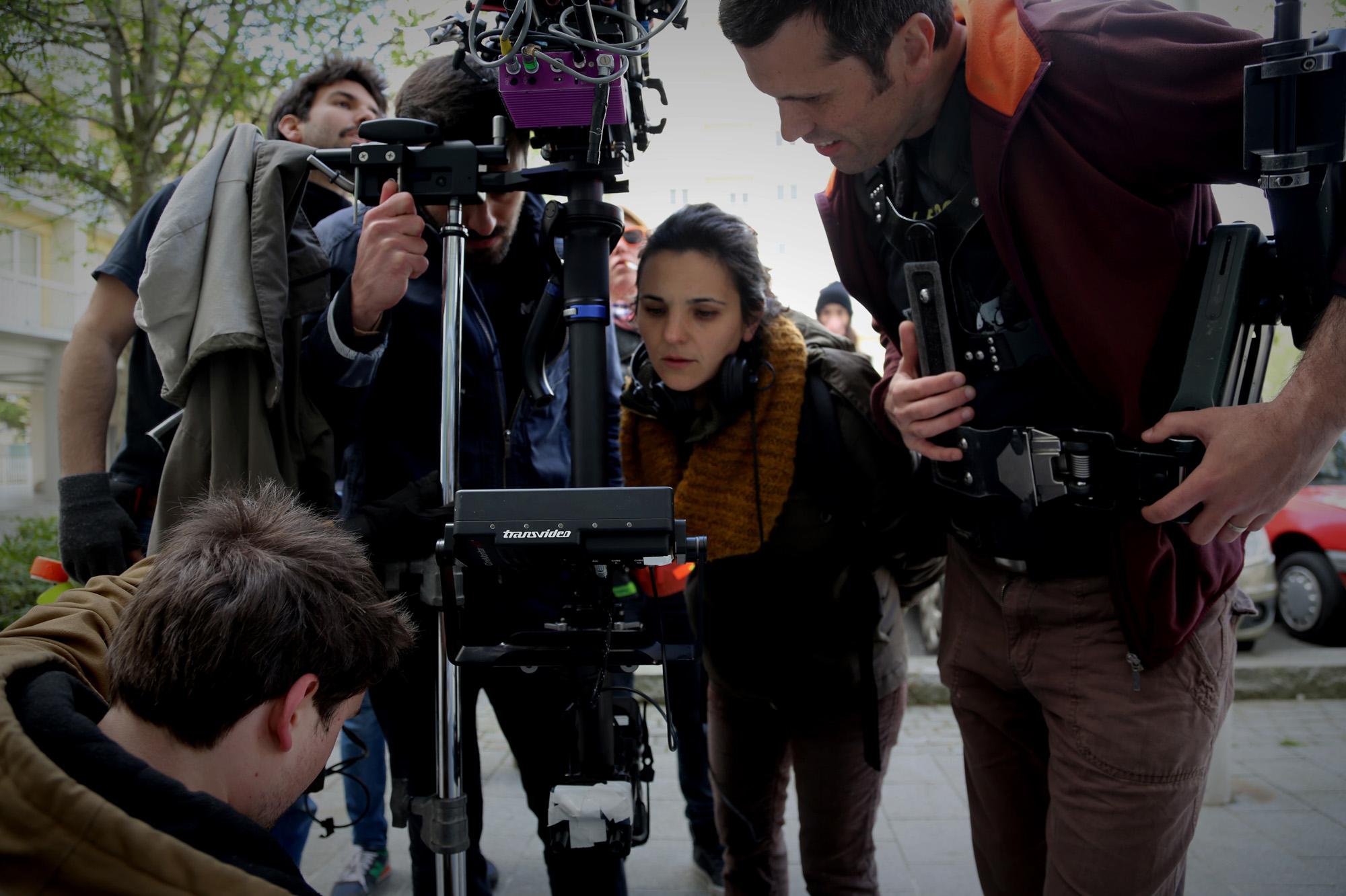 Lauriane Lagarde sur le tournage de ''A l'horizon'' Estran