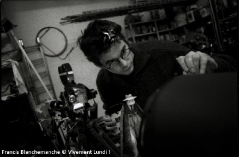 Laurent Gorgiard sur le tournage de
