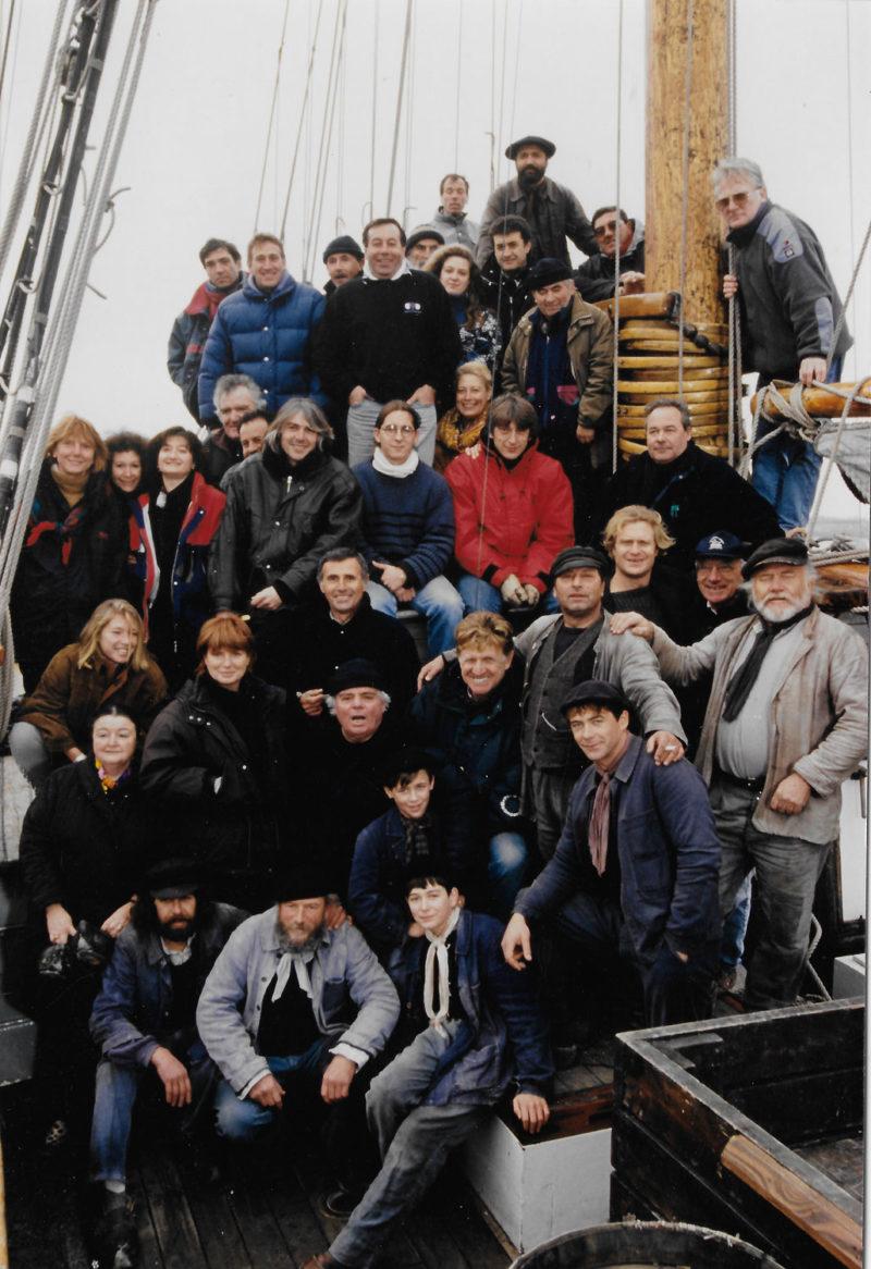 Équipe sur le tournage de Entre Terre et Mer