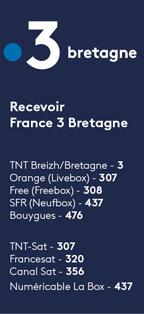 canaux diffusion France 3 Bretagne